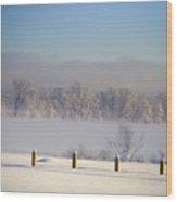 Frozen Fog Wood Print