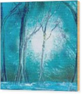 Frozen Forest Wood Print
