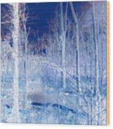 Frozen Forest Wood Print