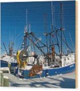 Frozen Hyannis Harbor Wood Print