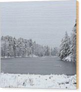 Frozen Lake 1 Wood Print