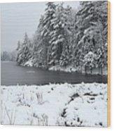 Frozen Lake 2 Wood Print