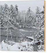 Frozen Lake 3 Wood Print
