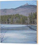 Frozen Lake Chocorua Wood Print