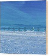 Frozen Lake Michgan At Grand Haven Wood Print