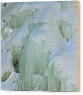 Frozen Moss Glen Falls Wood Print