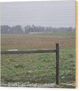 Frozen Rainy Field Wood Print by Kevin Croitz