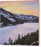 Frozen Reflections At Echo Lake Wood Print