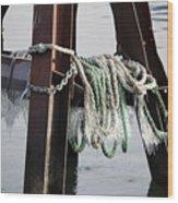 Frozen Ropes Wood Print