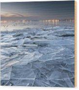 Frozen Town Wood Print