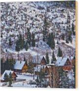 Frozen Village V2 Wood Print