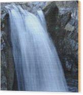 Frozen Water Wood Print