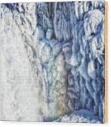 Frozen Waterfall Gullfoss Iceland Wood Print