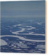 Frozen Yukon River - Alaska  Wood Print