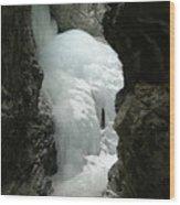 Frozen Zapata Falls Wood Print