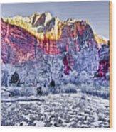 Frozen Zion Wood Print