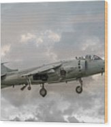 Frs1 Sea Harrier On Vertical Approach Wood Print