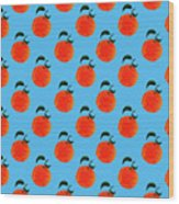 Fruit 01_orange_pattern Wood Print