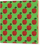 Fruit 02_apple_pattern Wood Print