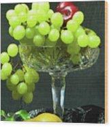 Fruit And Crystal. Wood Print