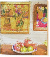 Fruit and paintings Wood Print