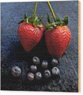 Fruit And Slate Wood Print