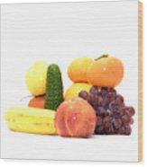 Fruit And Vegetables Ansamble Wood Print