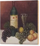 Fruit And Wine  B Wood Print by Helen Thomas