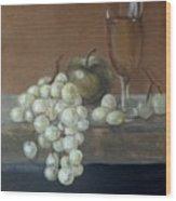 Fruit And Wine Wood Print