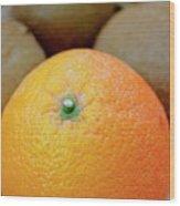 Fruit Basket. Orange. Wood Print