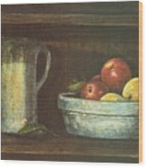 Fruit Bowl Wood Print