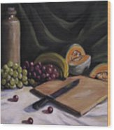 Fruit By The Light Wood Print