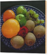 Fruit Dish Wood Print