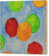 Fruit Drops Wood Print