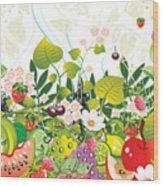 Fruit Garden Wood Print