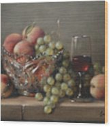 Fruit In A Crystal Bowl Wood Print