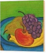Fruit In Bowl Wood Print