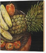 Fruit In The Round Wood Print