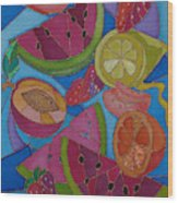 Fruit Mix Wood Print
