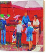 Fruit Of The Vendor Wood Print by Jeff Kolker