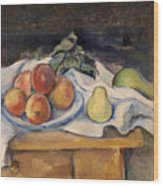 Fruit On A Table Wood Print