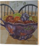 Fruit On The Table Wood Print