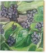 Fruit On The Vine Wood Print