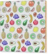 Fruit Pattern  Wood Print