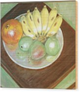 Fruit Plate Wood Print