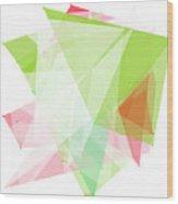Fruit Polygon Pattern Wood Print