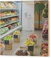 Fruit Shop Wood Print
