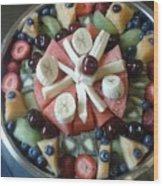 Fruit Spiral Wood Print