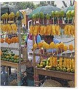 Fruit Stand Antigua  Guatemala Wood Print by Kurt Van Wagner