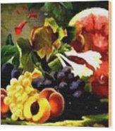 Fruit Still-life Catus 1 No 1 H B Wood Print